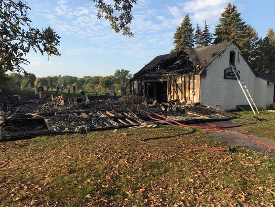 The Scorpions Motorcycle Club house after a fire last fall.