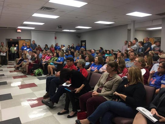 Dozens of supporters for funding improvements at Page