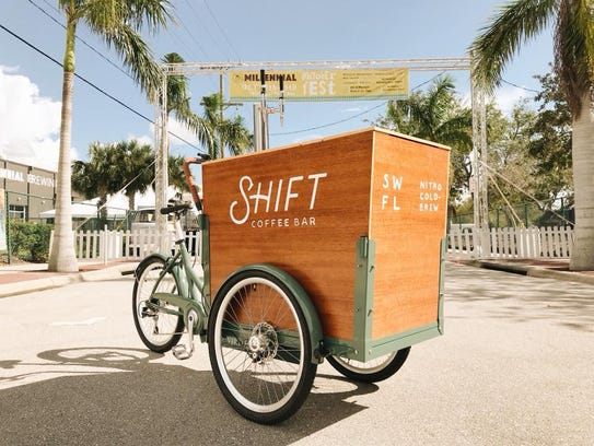 Shift Coffee Bar is  now roaming the streets of downtown