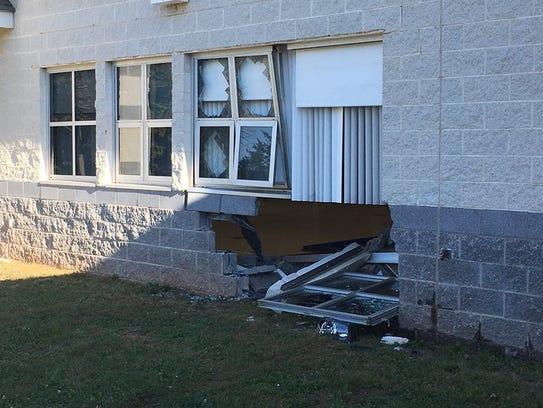 Damage to the Franklin Township senior center.