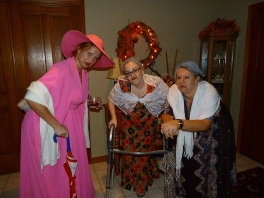 Trick or treating as old ladies. What's the big deal?