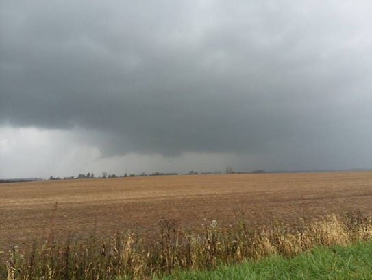 There is a Jay County tornado somewhere behind the