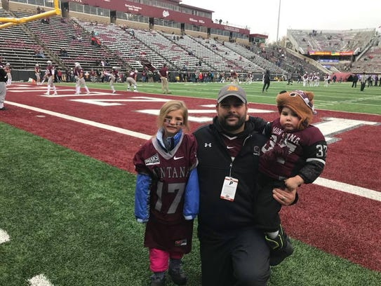 Ross family as guests of the Montana Grizzlies