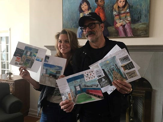 Actors and married couple, Hilarie Burton and Jeffrey Dean Morgan, who live in Pleasant Valley, show off plans for the first phase of the renovation of the Astor Service's residential treatment center in the spring of 2017.