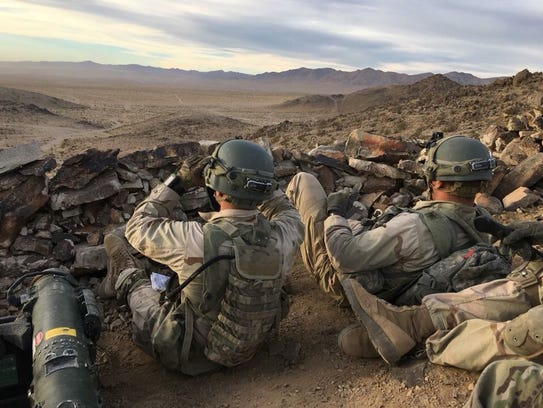 Soldiers from Cobra Company, 3rd Battalion, 41st Infantry
