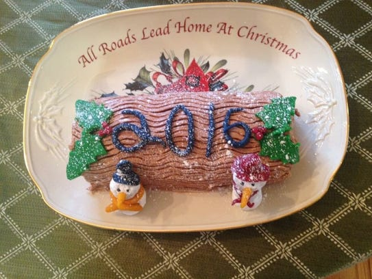 A Yule log made by Jennifer Federov.