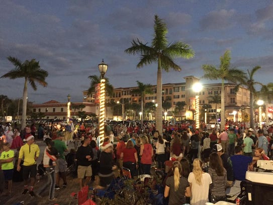 A view of the Christmas parade in downtown Fort Pierce