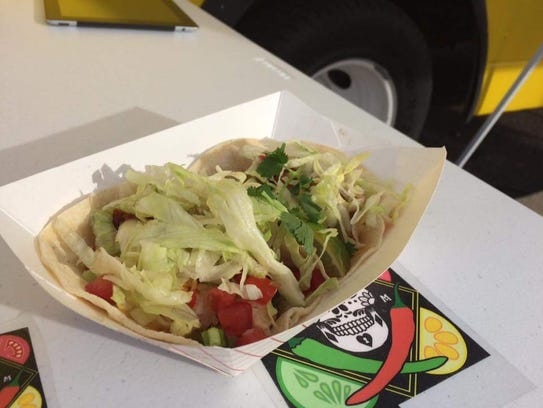 Tacos served at the New Mexican Food Truck. Patrons can customize their own tacos, choosing healthier ingredients, at this fairly new food truck in Las Cruces.