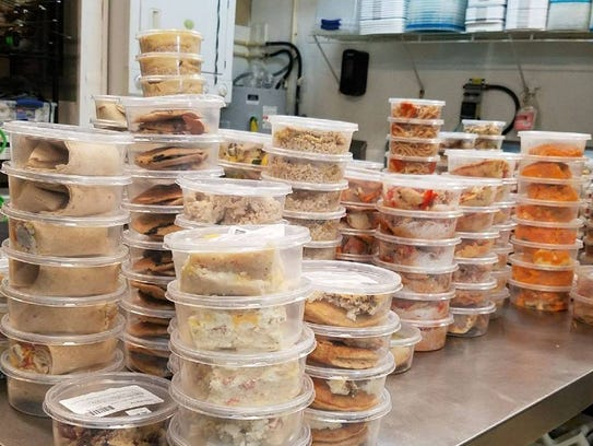 Prepared meals await delivery at The Lean Box in North Fort Myers.