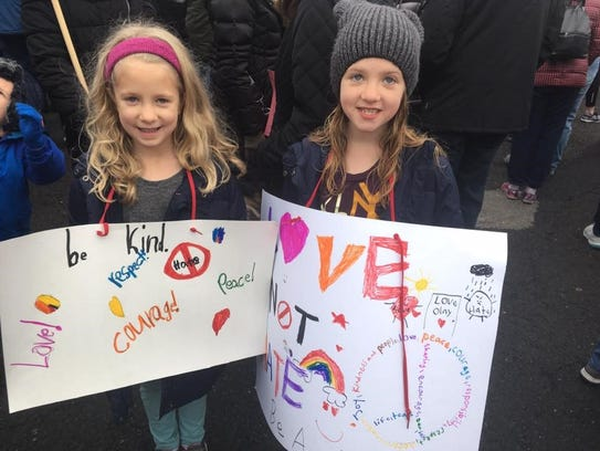 The second annual Women's March in Westfield is set