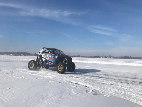 Lucas Olson races in the Side-by-Sides class of a Central