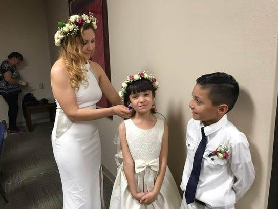 Alis Romo had three of the couple's four children in