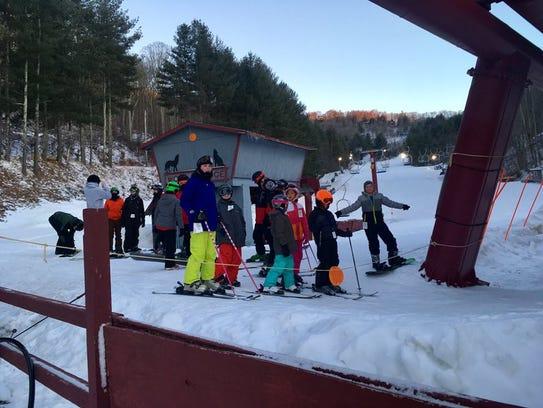 Madison's after school ski/snowboard club at Wolf Ridge