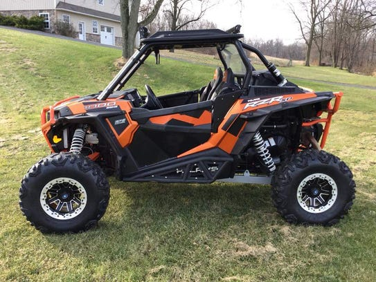 This orange RZR was stolen from Off Road Motorsports