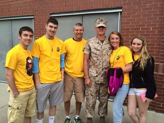 From left, the Parkhurst family, Clayton, Troy, Mark,