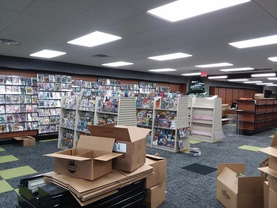 The interior of the new Sci-Fi City store location