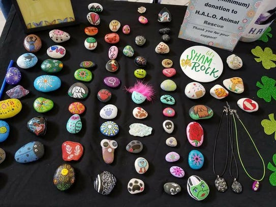 "Indian River Rocks rock painting group's ""Kindness"