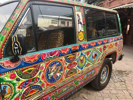 Colorful vehicle. Islamabad, Pakistan.