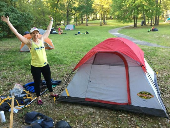 Paddlers on the Vermilion Voyage camped along the river.