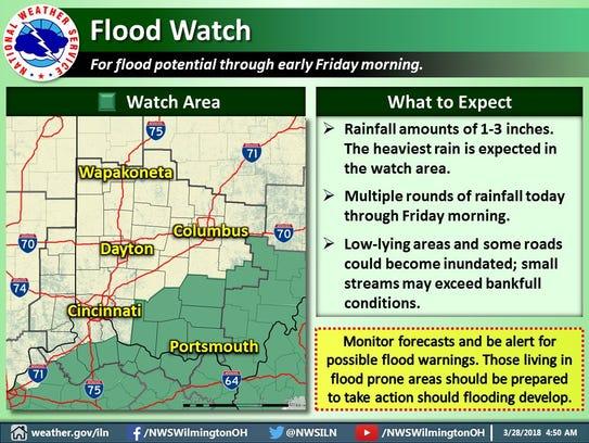 Flood watch issued 3/28/18