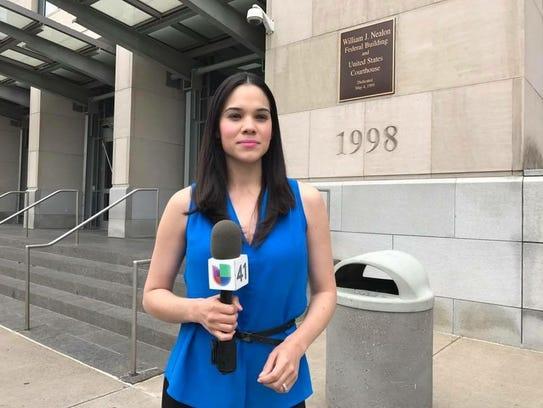 UNIVISON reporter YISEL TEJEDA