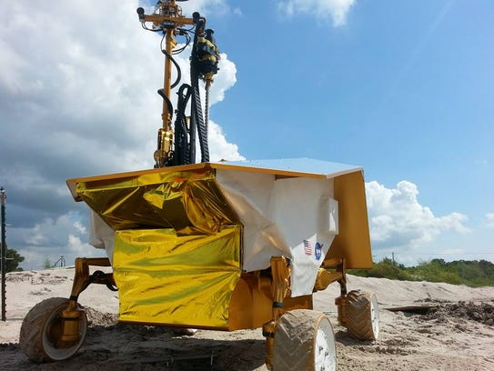 In August 2015, the Resource Prospector prototype searched