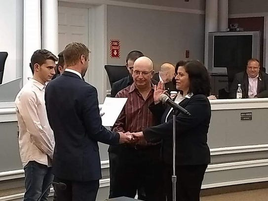 Gail Rottenstrich is sworn in as Deputy Mayor