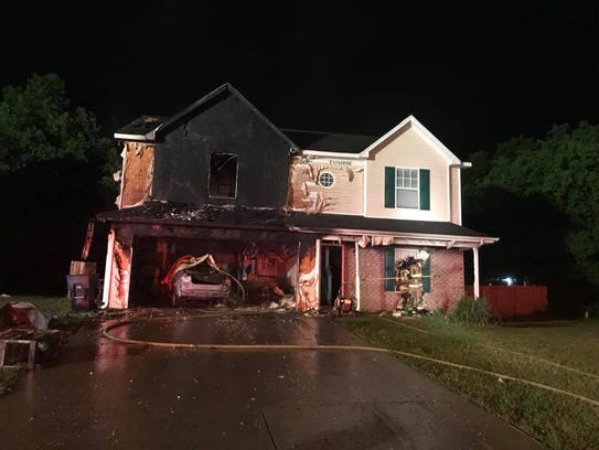 A late night house fire on Annex Court in Murfreesboro