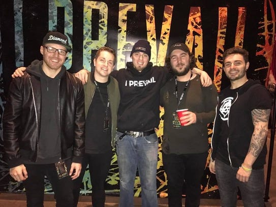 Justin Jongsma during a meet and greet with the band