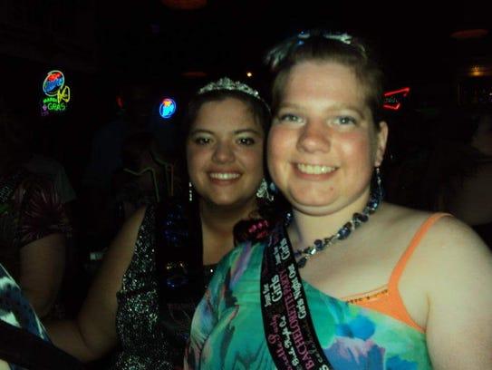 Bethany Svacina, left, and Alicia Hummel celebrate