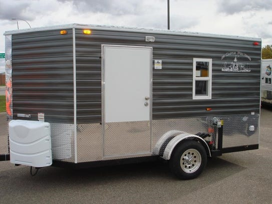 Stolen ice fishing trailer found in prescott co for Aaa fish house