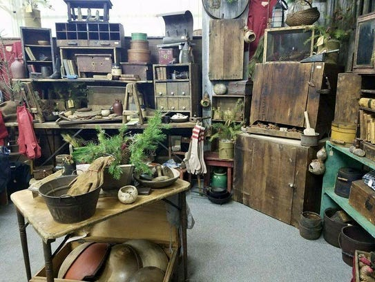 Gathered treasures and simple goods shows offer antiques for Mansfield arts and crafts show