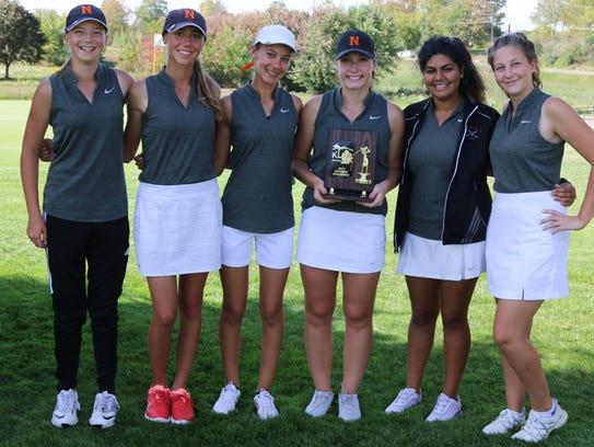 Northville's varsity girls golf team shared KLAA South