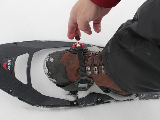 Snowshoes or other traction devices are a must for winter hiking on Monroe County trails, including the trails at Durand-Eastman Park in Irondequoit.