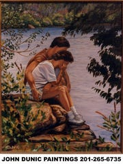"""Couple by the Lake"""
