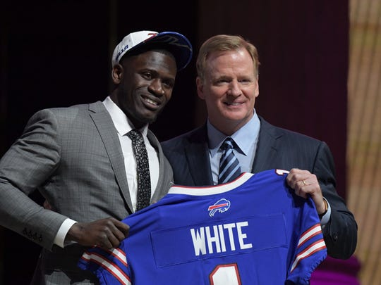 The Bills' first-round pick, Tre'Davious White, after