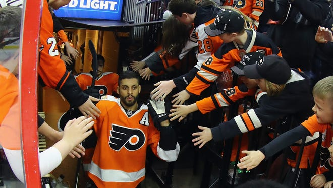 Pierre-Edouard Bellemare had eight points in 82 games for the Flyers last season.