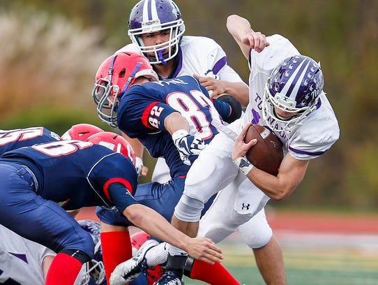 Chenango Forks' Jared Gage trips up Norwich's Eric