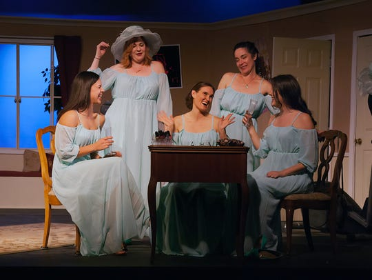"The Camarillo Skyway Playhouse production of ""Five Women Wearing the Same Dress,"" a past production at the venue."