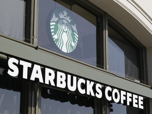 A Starbucks Coffee store on the Embarcadero in San Francisco is shown in this 2012 file photo.
