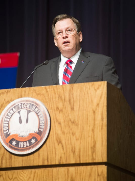 Louisiana Tech President Les Guice addresses faculty and staff at his annual.jpg