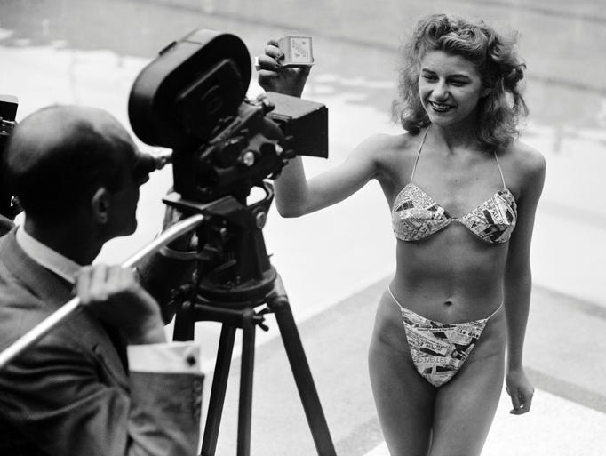 Sixty one years ago the bikini exploded onto the world,