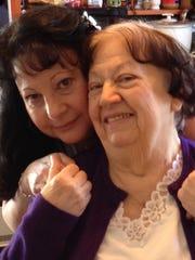 Linda Severini (left) with mom Felicia Severini.