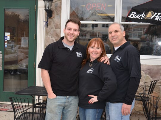 Left to right, Stephen, DonnaMarie and Sam El Hassan stand in front of their O'Bagel store in the Basking Ridge section of Bernards.