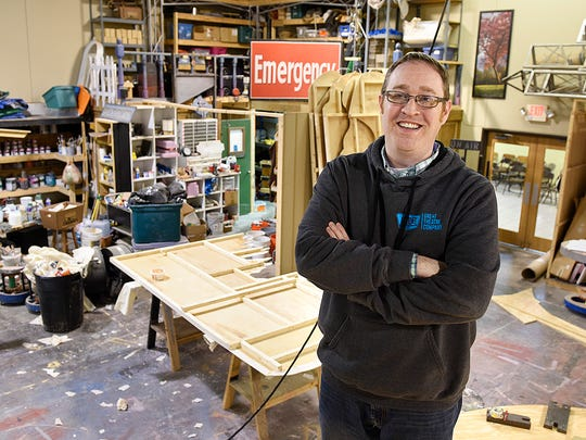 Dennis Whipple has been the GREAT Theatre executive artistic director for the past 19 years. He is shown Tuesday, Jan. 3, in the set shop in Waite Park.