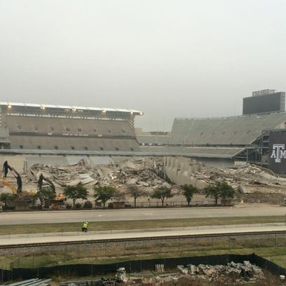 Kyle Field imploded