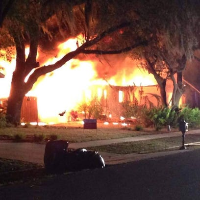 A house exploded and burned Thursday at 2101 East Cork
