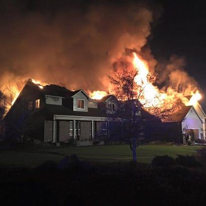 A fire destroyed a house on Rambeau Lane Thursday evening.