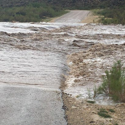County Road 408 under water after rains Aug. 21 in