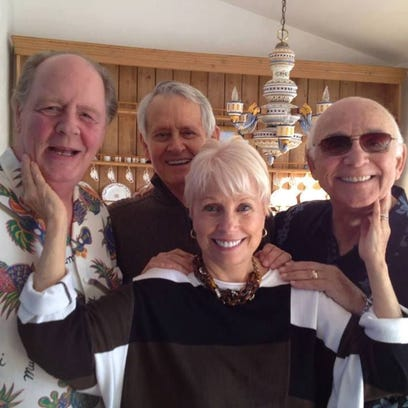 Joyce Bulifant with Jeff Doucette, husband Roger Perry,